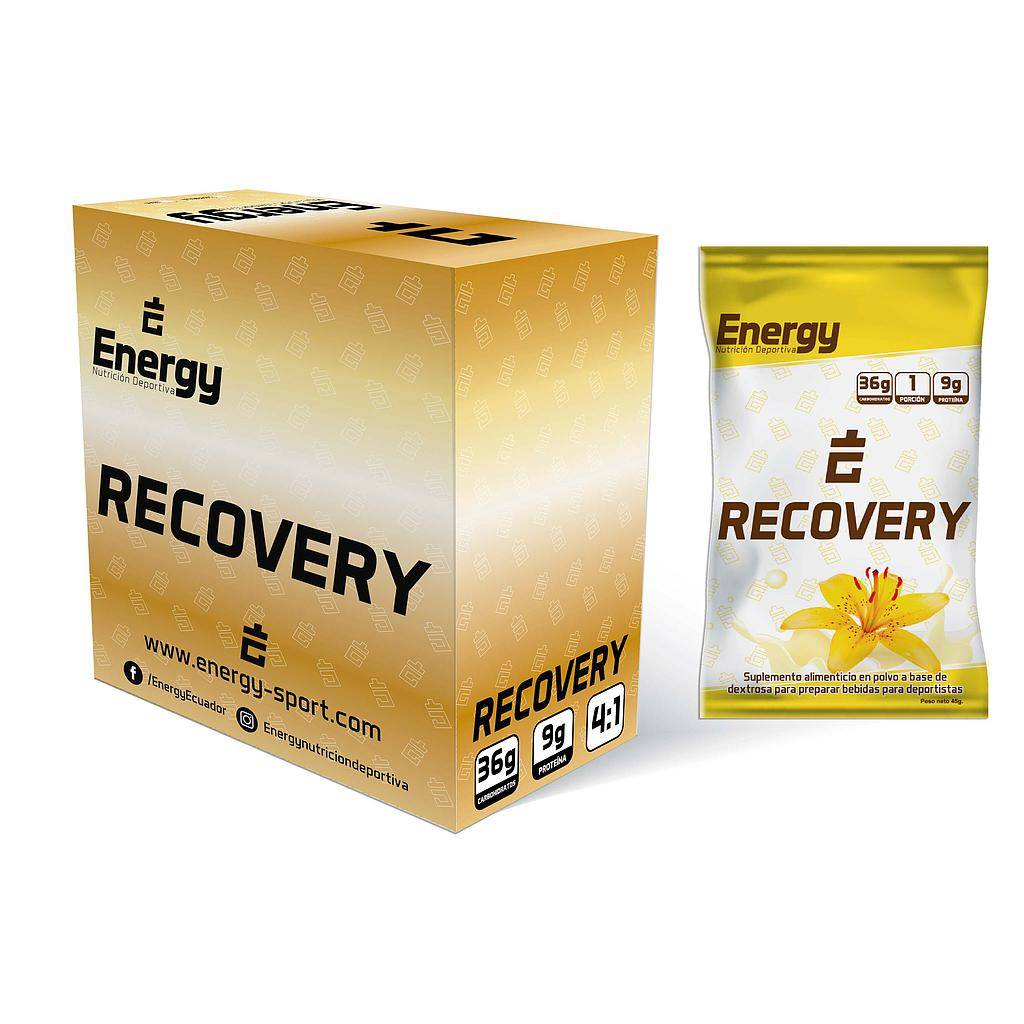 ENERGY RECOVERY VAINILLA CAJA x 6 SOBRES