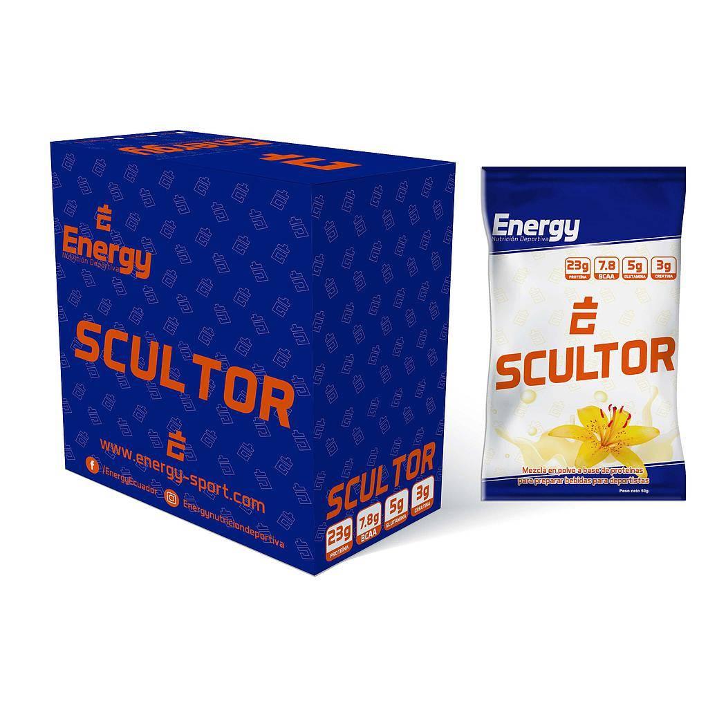 ENERGY SCULTOR CAJA x 6 UNIDADES (SOBRE 50g) sabor Vainilla