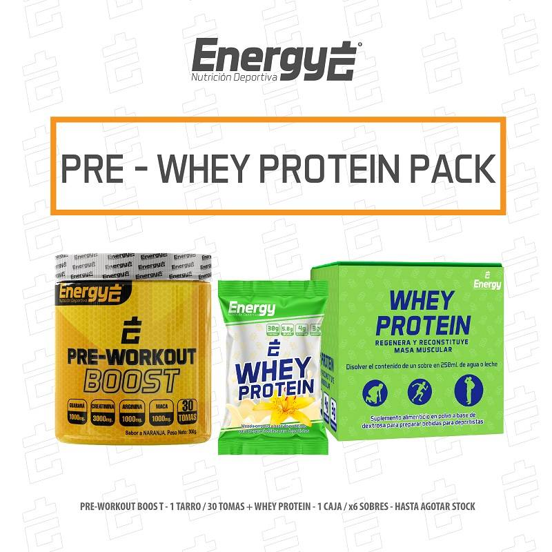 PACK PRE WORKOUT - WHEY PROTEIN